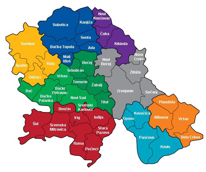 mapa vojvodine srem banat backa LSV | Kontakt mapa vojvodine srem banat backa